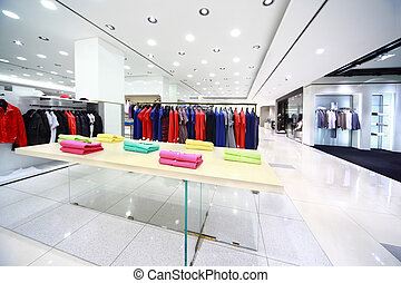 Large shop with masculine clothes
