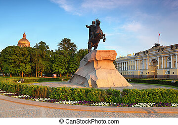 """Bronze Horseman"" - monument to Peter Great (Saint..."