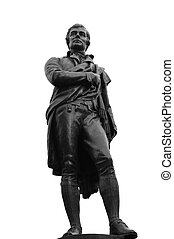 Robert Burns Statue 1759-1796, Edinburgh, Scotland - The...