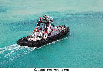 poco, spacciatore, fuoco, deriva, attraverso, mare, tirare, giorno, pilota
