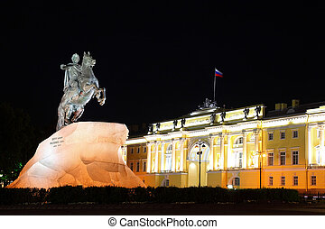 quot;Bronze Horsemanquot; - monument to Peter Great...