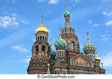 Church of  Savior on Blood - very famous landmark in Saint Petersburg, Russia, Europe