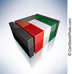 3D flag of Kuwait
