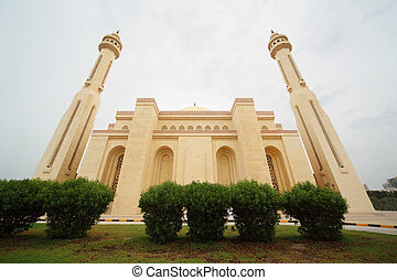 BAHRAIN - APRIL 16: Al-Fateh Grand Mosque - national islamic...