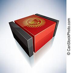 3D flag of Kyrgyz