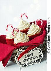 Christmas cupcakes - Gift basket of Christmas cupcakes