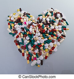 hjärta, form, olika, biljard