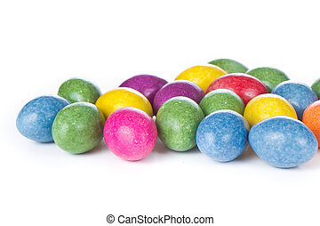 easter eggs isolated - chocolate easter eggs isolated on...