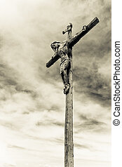 crucifixion - holy cross with crucified Jesus Christ