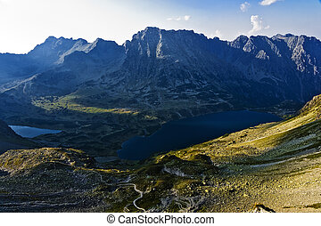 High Tatras area of the valley five pond