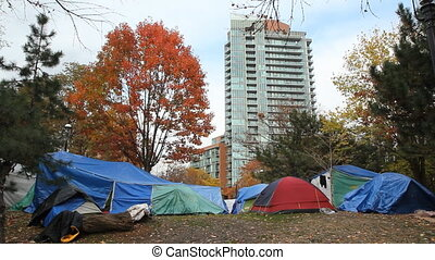 Occupy Toronto tents.