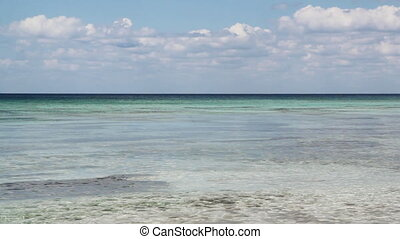 Caribbean sea. - View of the Caribbean. Calm water and...