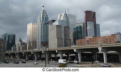 Toronto financial district. - View of Toronto financial...