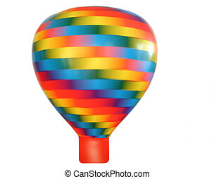 Turning multi-colored bright balloon