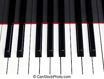 Close up of piano keys - Close up image of the keys of a...