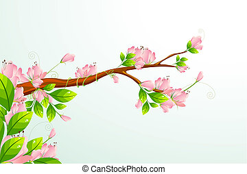 Blooming Flower - illustration of colorful flower blooming...