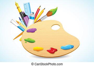 Color Palette - illustration of color palette with...
