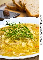 tradicional, polaco, tripa, sopa