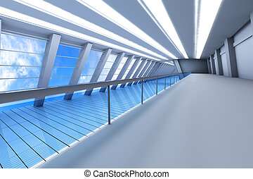 Airport Architecture - 3D rendered Illustration Airport...