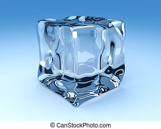 Ice Cube - 3D rendered Illustration. An ice cubes.