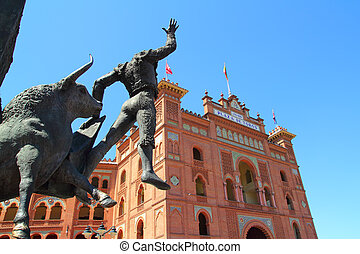 Madrid bullring Las Ventas Plaza Monumental with toreador...