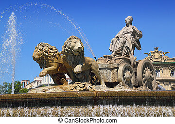 Cibeles statue Madrid fountain in Paseo Castellana - Cibeles...