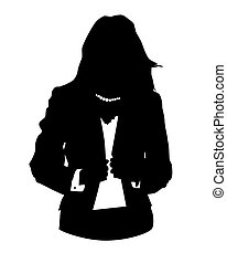 office avatar woman - Graphic illustration of woman in...