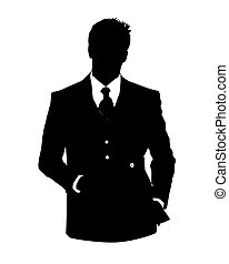 office avatar man - Graphic illustration of man in business...