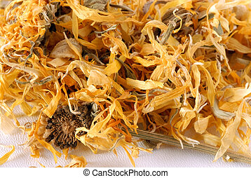 Herbal marigold tea