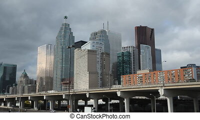 Toronto financial district Closeup - View of Toronto...