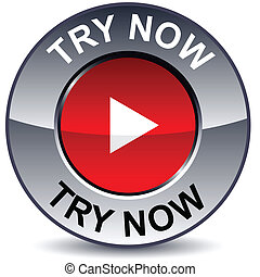 Try now round button.