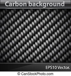 Carbon texture - Vector illustration of realistic Carbon...