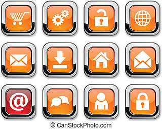 web icons - web glossy icons Vector buttons