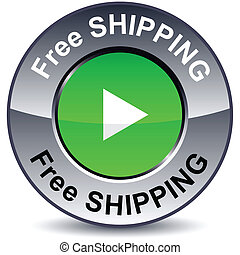 Free shipping round button.