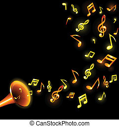 Music background. - Luminous music background. Vector...
