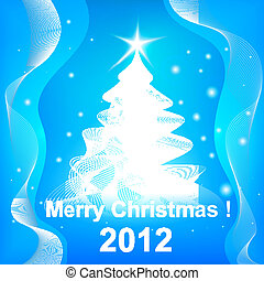 Merry Christmas 2012 background