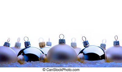 ボール, クリスマス, カード, 挨拶