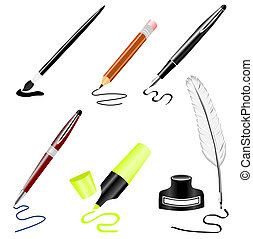 Stationery - Illustration of stationery set