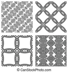 op art monochromatic patterns