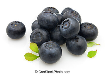 Sweet blueberry - Fresh blueberry with leaves. Use it for a...