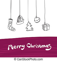 Merry Christmas Gifts Illustration. Vector, Eps8.