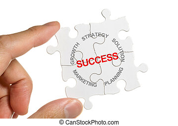 Marketing Strategy - Puzzle, business concept marketing...