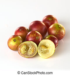 Camu camu berry fruits (lat. Myrciaria dubia) which are...