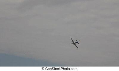 passenger aircraft in the air - Passenger aircraft flight...