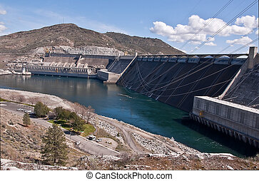 Grand Coulee Dam Landscape - This is a landscape of Grand...
