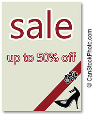 Abstract retailer sale poster