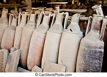 Old amphoras - 2200 years old amphoras for whine, Pompei...