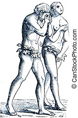 Adam and Eve by Masachchio - an illustration of the...