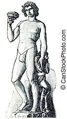 Bacchus by Michelangelo Buanarotti - an illustration of the...