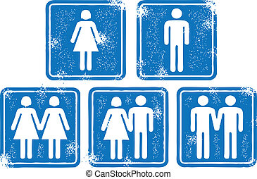 People and Couple Signs - A selection of single and couple...